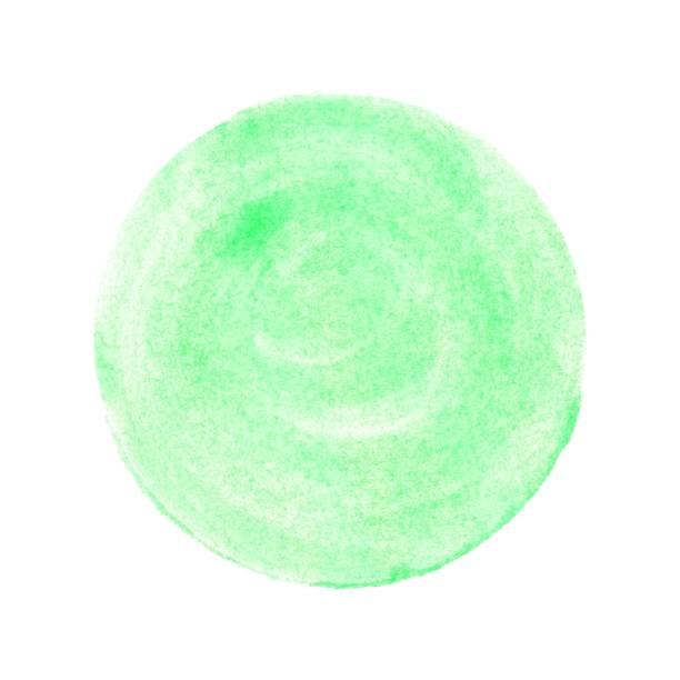 isolierte grünen aquarell kreis - foto tusche stock-fotos und bilder