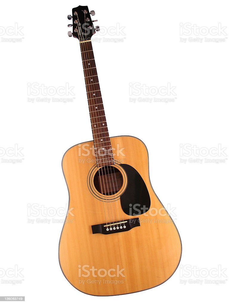 Isolated Guitar - Acoustic stock photo