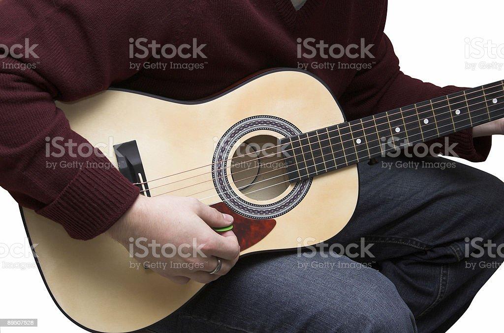 Isolated Guitarist stock photo