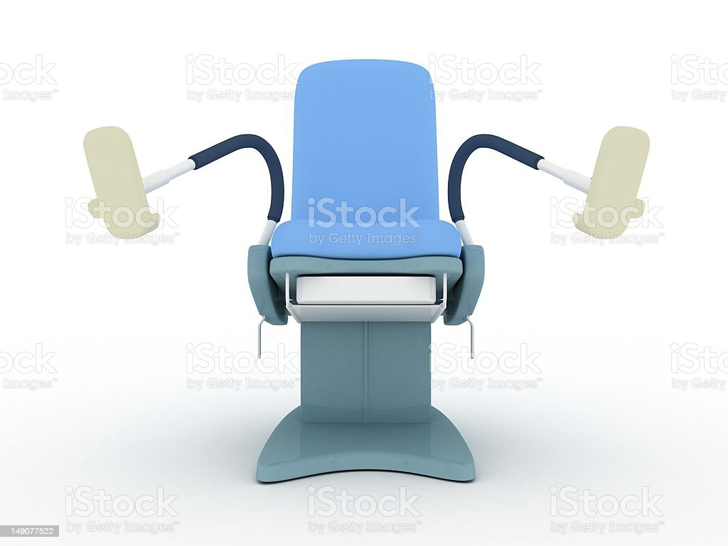 Isolated Gynecology Chair royalty-free stock photo