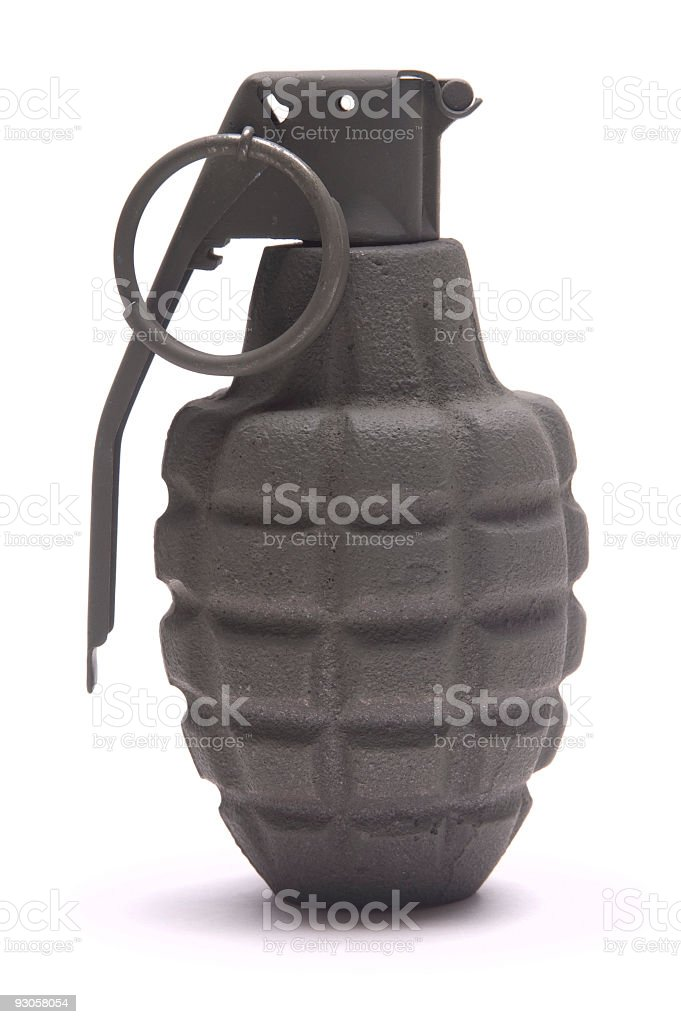 Isolated Hand Grenade royalty-free stock photo
