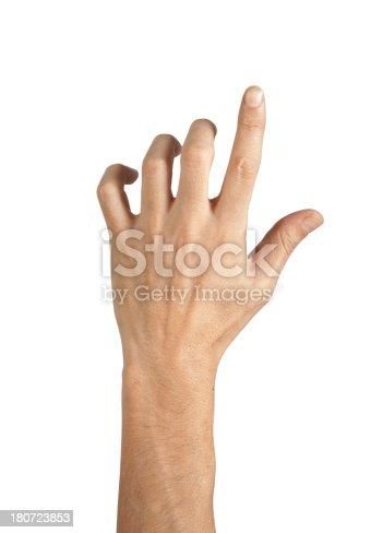 istock isolated hand 180723853