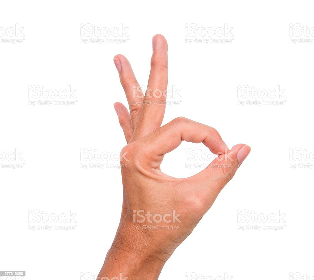 isolated-hand-sign-2-fingers-round-meaning-ok-picture-id577319356