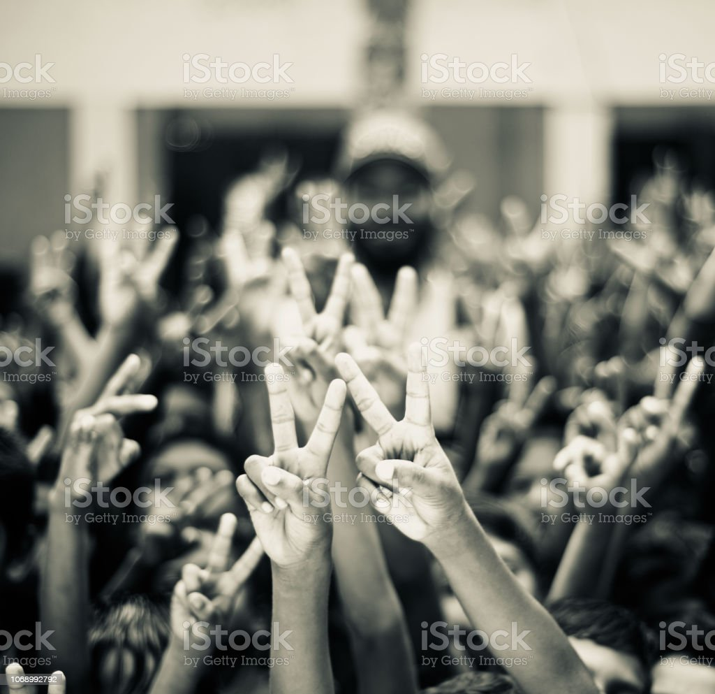 Isolated hand signs of victory unique photo stock photo