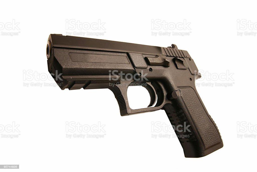 Isolated handgun on white background royalty-free stock photo
