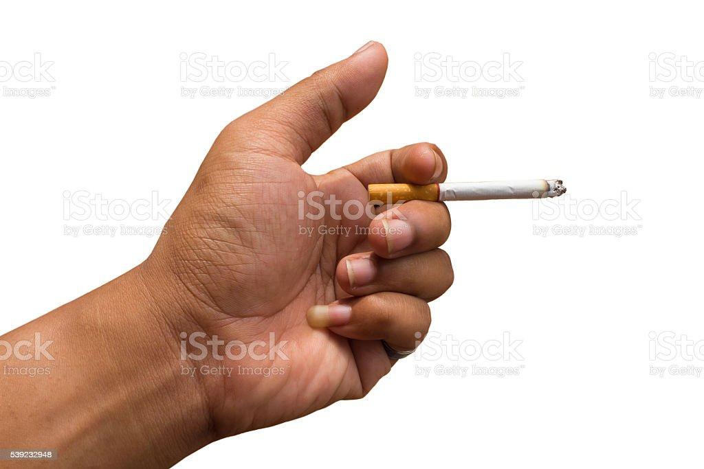 Isolado alça fumantes foto royalty-free