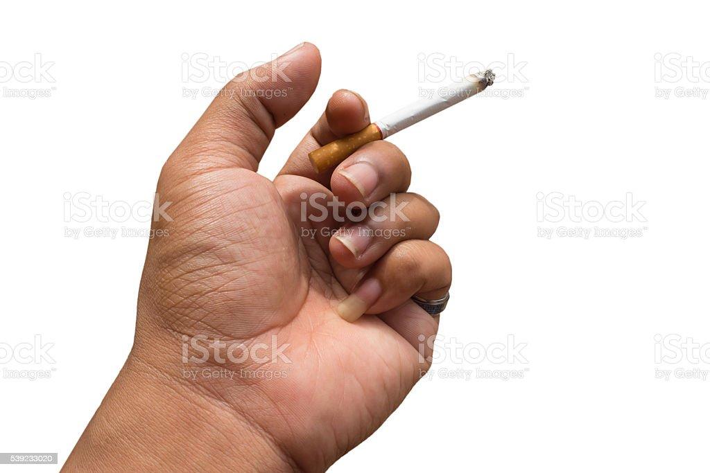 Isolated Handle smoking royalty-free stock photo