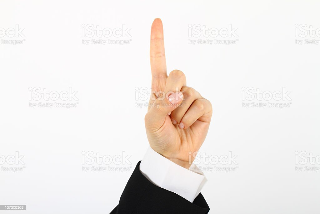 Isolierte hand, Nummer 1 – Foto