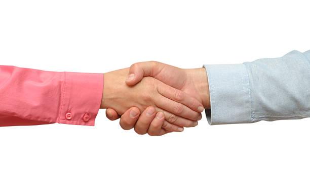 Isolated handshake stock photo