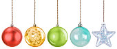 istock Isolated Hanging Christmas Ornaments 1271218650
