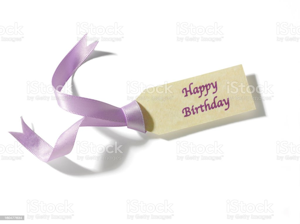 Isolated Happy Birthday Label royalty-free stock photo
