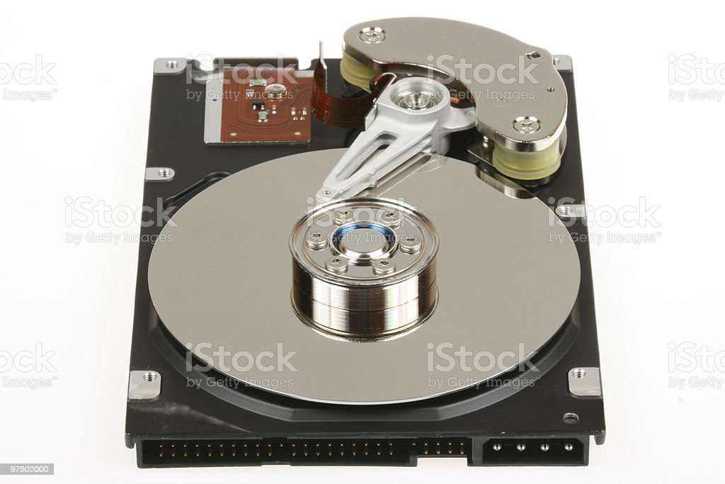 Isolated hard drive royalty-free stock photo