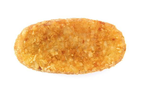 isolated hash brown - haschee stock-fotos und bilder