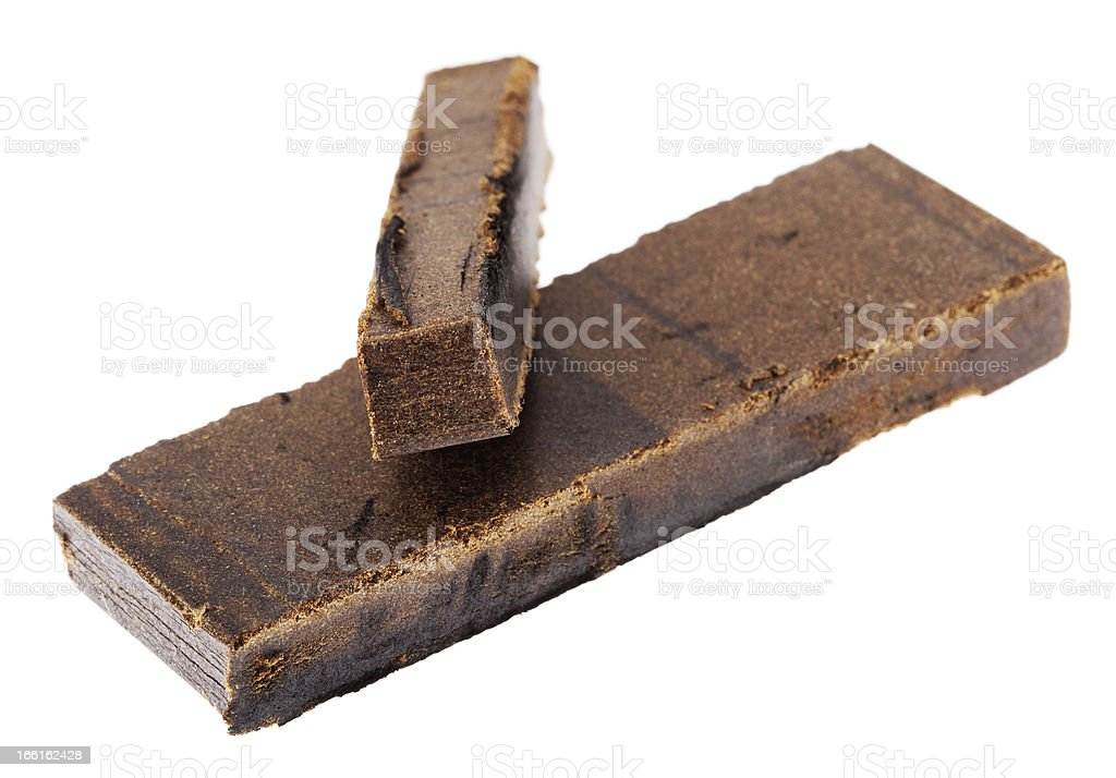 Isolated Hashish Finger - 10 and 20 Grams stock photo