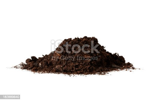 isolated heap of dirt.