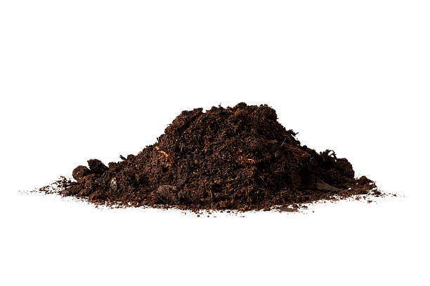 Isolated Heap of Dirt stock photo
