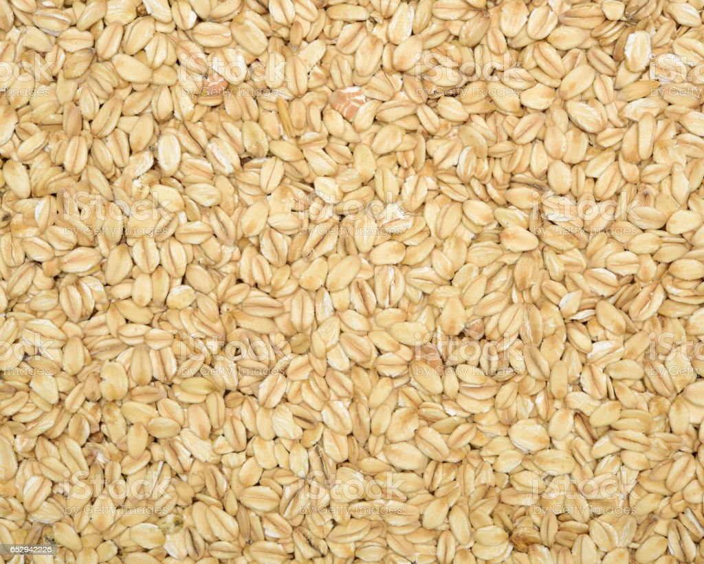 isolated heap of healthy oatmeal  background stock photo