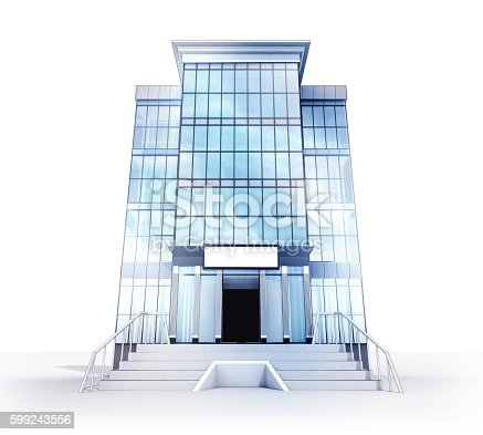 istock isolated high office building glass facade concept 599243556