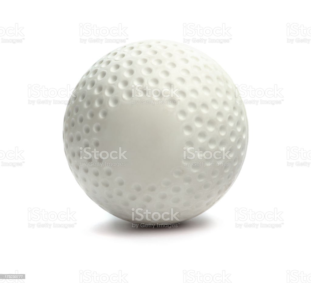 Isolated hockey ball against a white background stock photo
