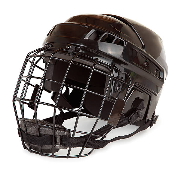 Isolated Hockey Helmet stock photo