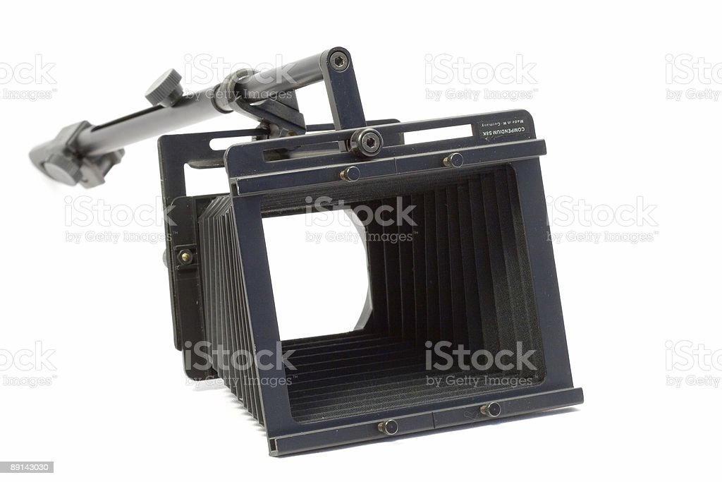 isolated holder of 8 mm frames stock photo