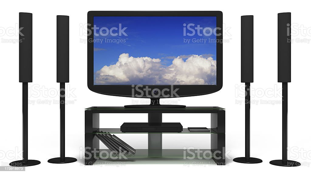 Isolated Home Theater System royalty-free stock photo