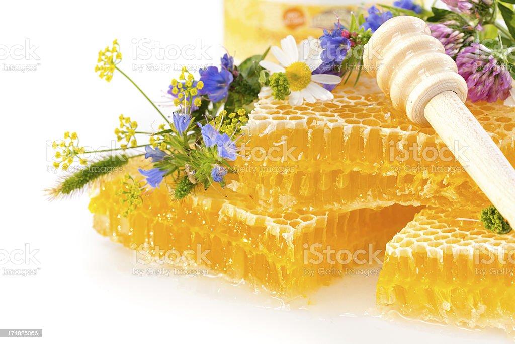 isolated honey detail royalty-free stock photo