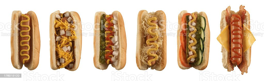 Isolated Hot Dog Collection royalty-free stock photo