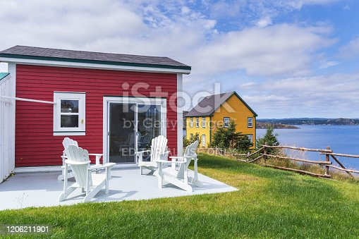 Isolated house on the The battery Peninsula of Newfoundland, Canada