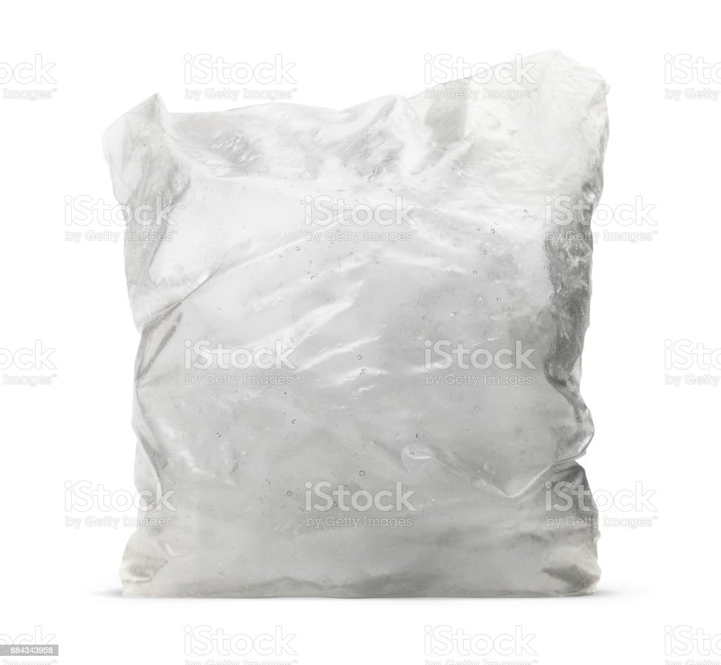 Isolated Ice Cube Bag stock photo