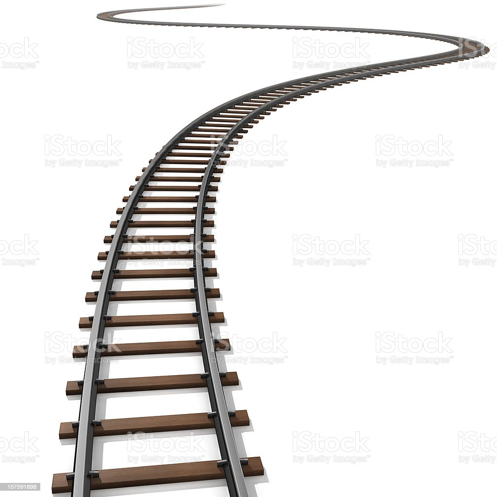 Isolated illustration of railroad tracks royalty-free stock photo
