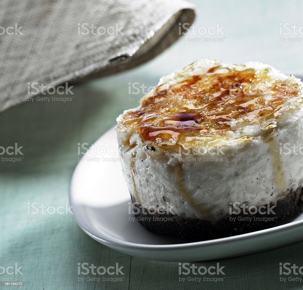 Isolated image of a Creme brulee royalty-free stock photo