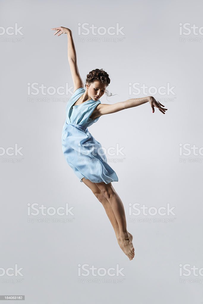 Isolated image of a dancer elegantly dancing stock photo