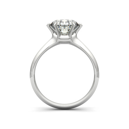 istock Isolated image of a diamond ring on a white background 469421498