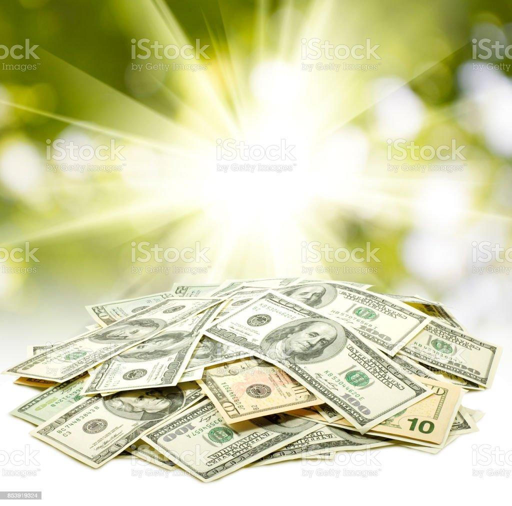 Isolated image of  dollars stock photo