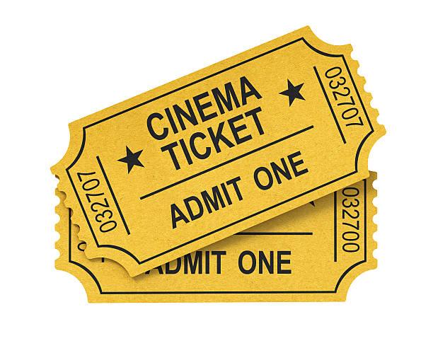 biglietti del cinema - biglietto del cinema foto e immagini stock
