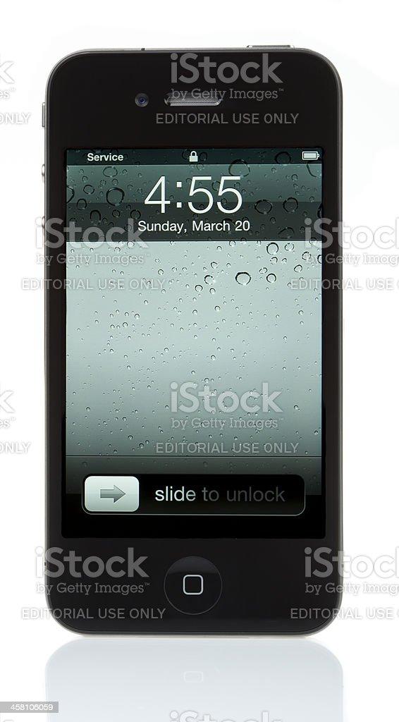 Isolated iPhone 4 - Locked royalty-free stock photo