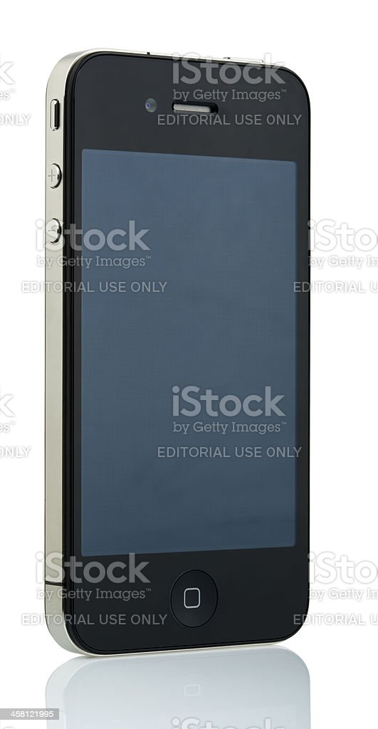 Isolated iPhone 4 - Off stock photo