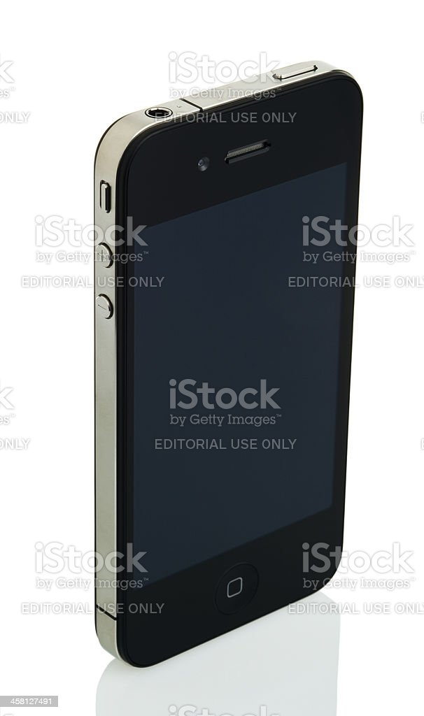 Isolated iPhone 4 - Off royalty-free stock photo
