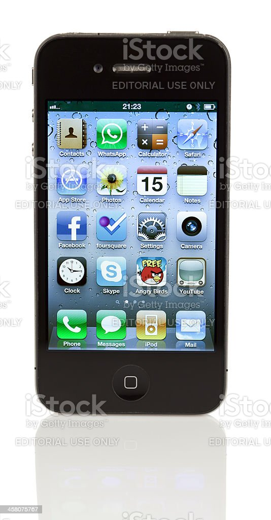 Isolated iPhone 4 royalty-free stock photo