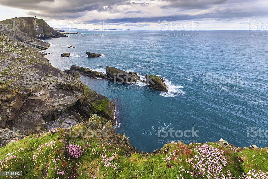 Isolated island with stunning foreground royalty-free stock photo