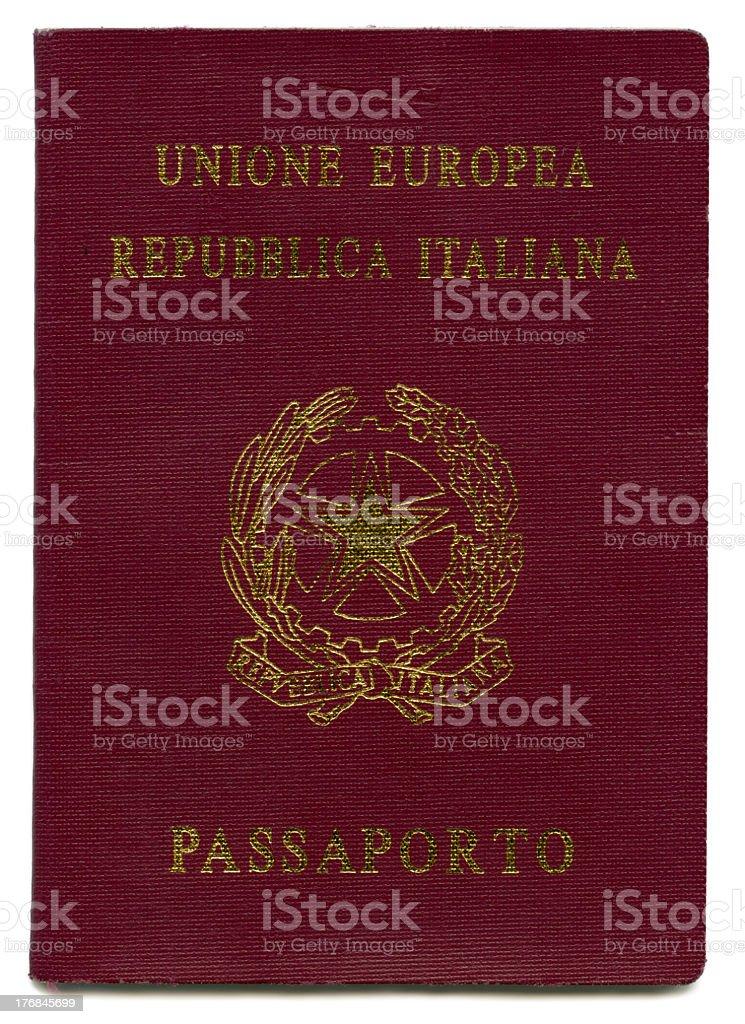 Isolated Italian Passport royalty-free stock photo
