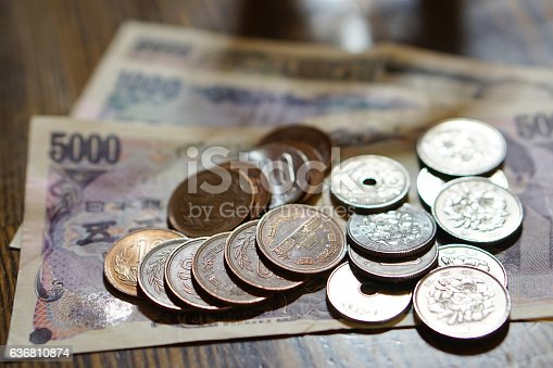 istock Isolated Japanese currency (yen) with its Asian 636810874