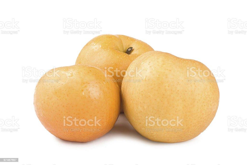 Isolated Japanese pear royalty-free stock photo