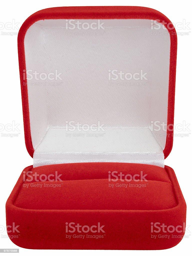 Casella di gioielli isolato su sfondo bianco, percorso clip - foto stock
