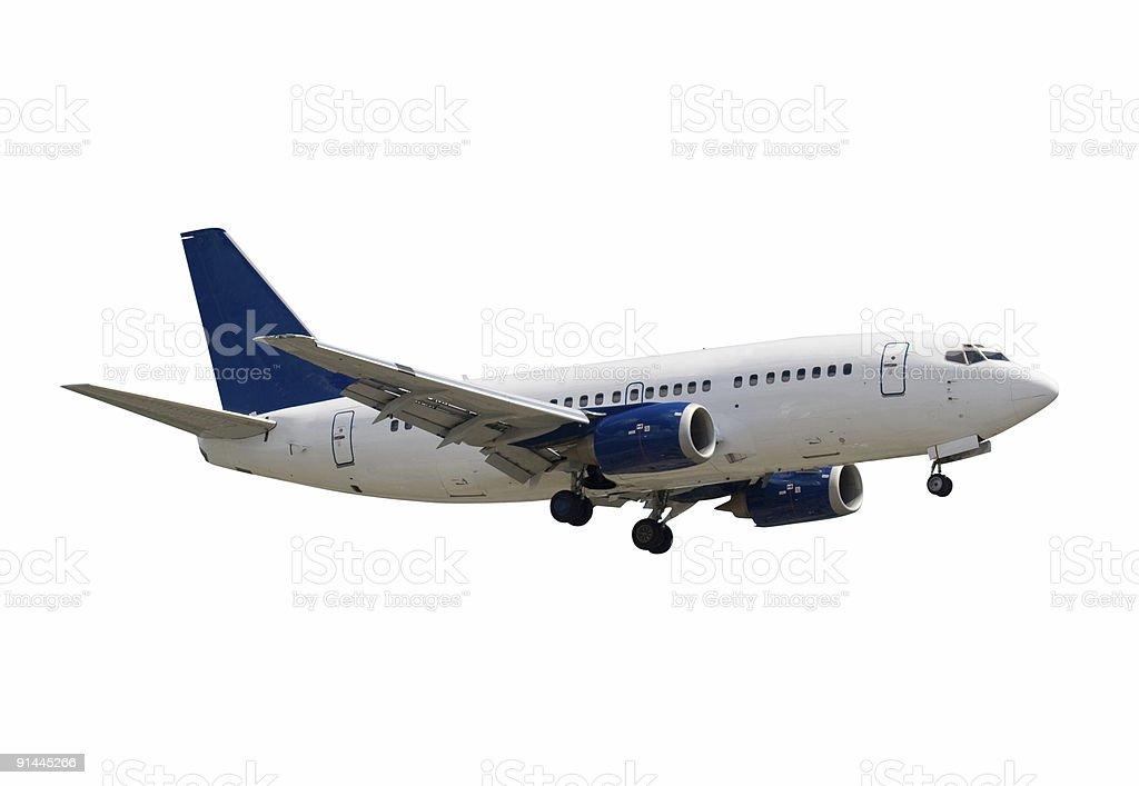 Isolated Jumbo Jet royalty-free stock photo
