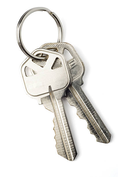 Isolated Keys on White with Clipping Path stok fotoğrafı