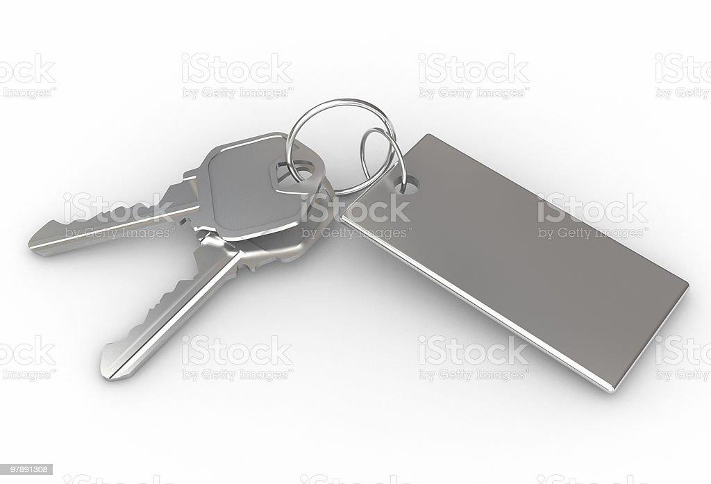Isolated Keys royalty-free stock photo