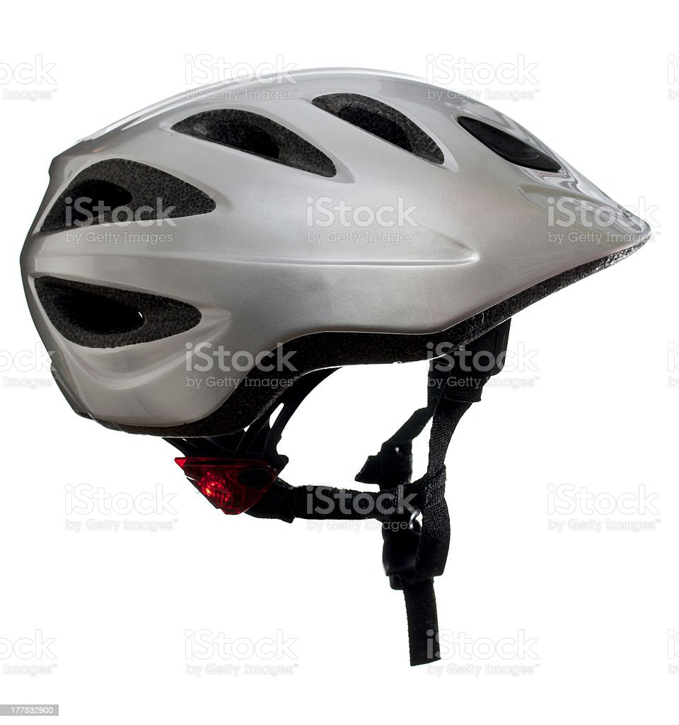 Isolated kids bike helmet stock photo