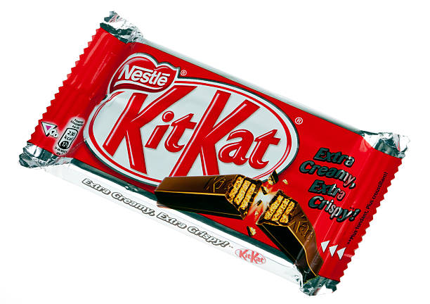 isolated kit kat - kit kat stock photos and pictures